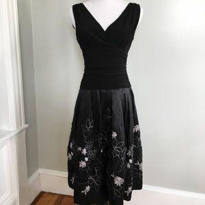 Dress Barn Black Cocktail Prom Dress LIKE NEW